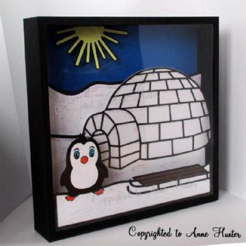 Igloo Picture Box Template